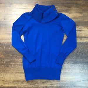The Limited Royal Blue Knit Turtleneck Tunic, L